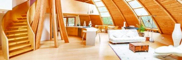 Dome house inspiradora gira em torno de si mesma.