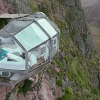 Cápsula transparente a 400 metros de altura é quarto de hotel em Cusco