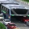 Ônibus futurista chinês visa acabar com os congestionamentos no trânsito